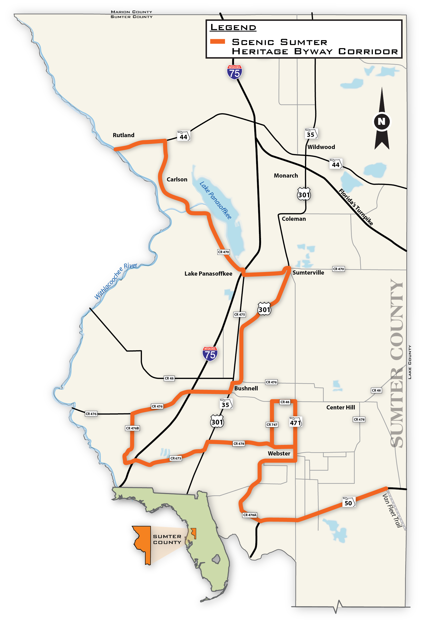 Map of the Byway