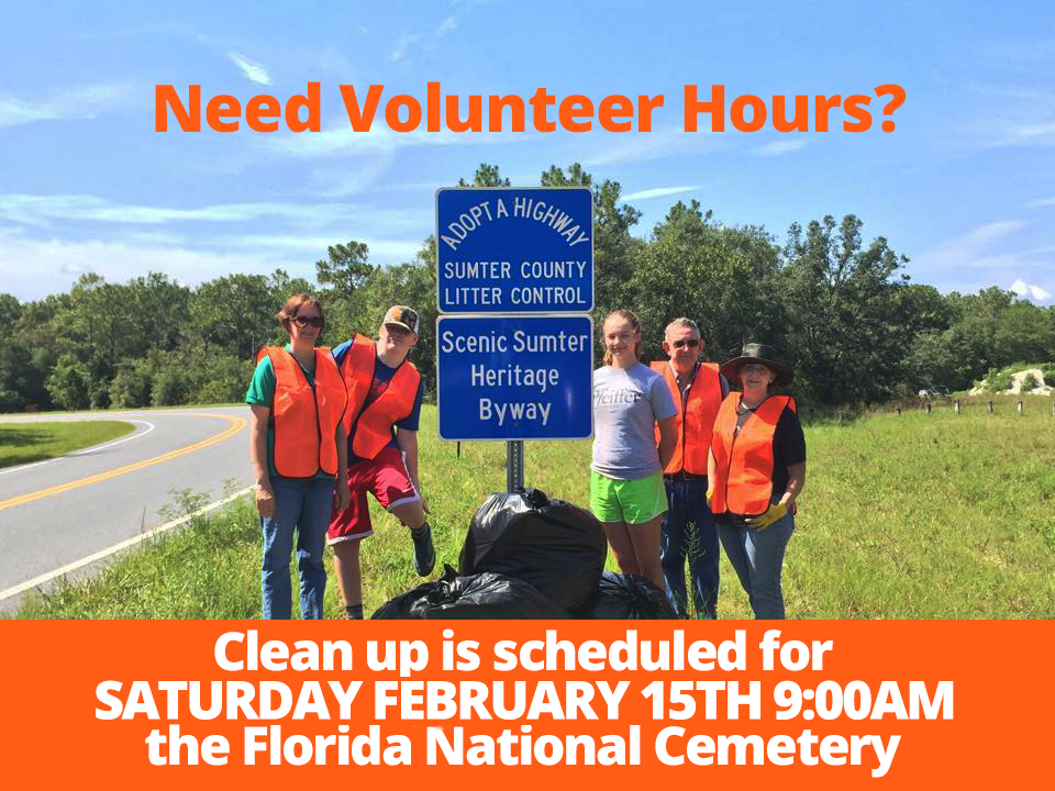 Adopt a Highway Clean Up @ Florida National Cemetery